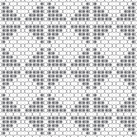 Seamless pattern. Modern elegant texture. Regularly repeating geometrical ornament consisting of rhombuses, dots, dotted triangles, outline circles.