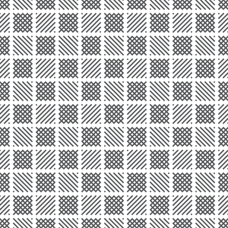 Plaid seamless pattern. Classical tablecloth texture. Checkered fabric background. Regularly repeating geometric tiles with small rhombuses, striped checks. Geometrical cover surface.
