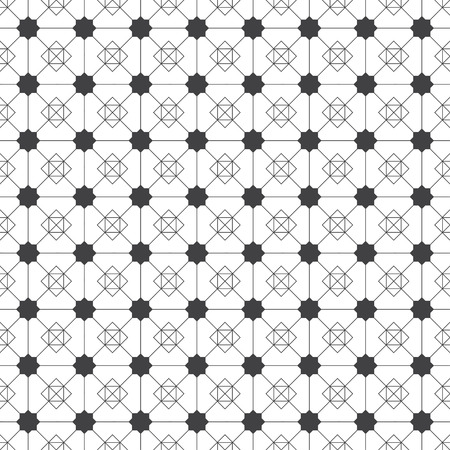 Seamless pattern. Modern stylish texture. Regularly repeating geometrical linear ornament with stars, rhombuses, triangles, squares.