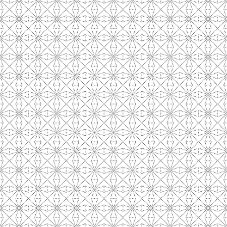 Seamless pattern. Infinitely repeating modern texture consisting of small dots, rhombuses, stars. Abstract dotted textured background.