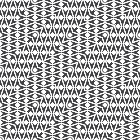 Seamless pattern. Modern stylish geometrical texture. Regularly repeating zigzag shapes with squares, triangles.