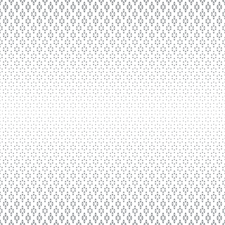 Abstract halftone background. Modern stylish texture. Repeating grid with rhombuses and triangles of the different size. Gradation from bigger to smaller
