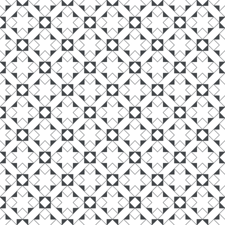 Seamless pattern. Modern stylish texture consisting of regularly repeating outline stars, rhombuses, diamonds, triangles.