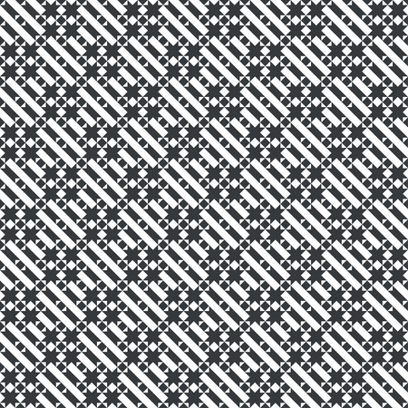 Repeating modern geometrical texture consisting of diagonal strips, small triangles, stars, rhombuses. Illusztráció