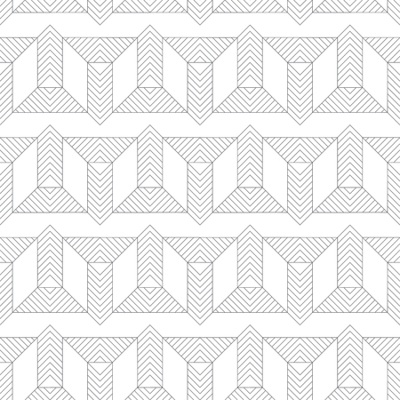 Modern stylish texture with thin lines which form regularly repeating contemporary ornament with geometrical zigzag shapes, triangles. Abstract seamless textured background