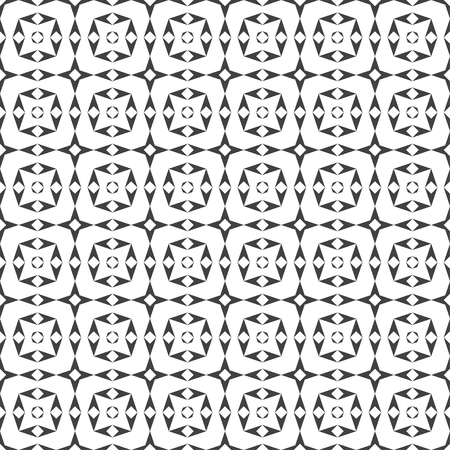 Seamless pattern. Modern stylish texture. Regularly repeating geometrical tiles with rhombuses, triangles, stars.
