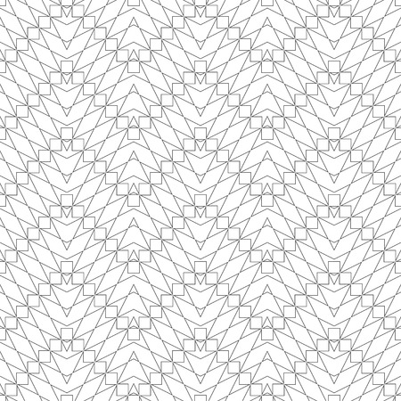 Seamless pattern. Modern stylish geometrical texture. Regularly repeating zigzag shapes with linear rhombuses, polygons, squares.