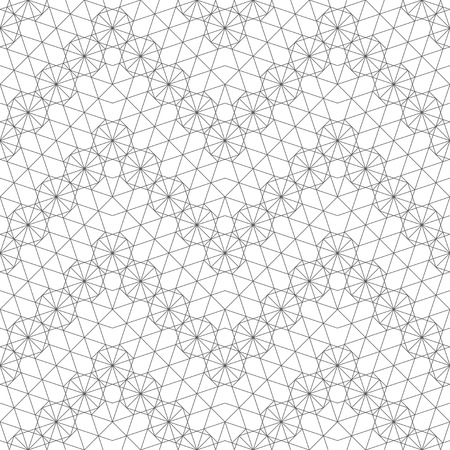 Modern stylish geometrical texture. Regularly repeating zigzag shapes with linear hexagons, polygons, triangles.
