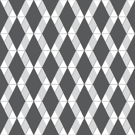 Seamless pattern. Infinitely repeating modern geometrical texture consisting of triangles, rhombuses.  イラスト・ベクター素材
