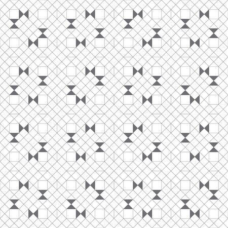 Vector seamless pattern. Modern stylish texture with outline geometric shapes. Regularly repeating geometrical thin line grid with rhombuses, hexagons, triangles. Linear mosaic