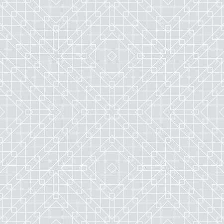 Seamless pattern. Modern elegant texture. Regularly repeating traditional geometrical tiles with linear rhombuses, corner shapes, squares. Thin line. Vector element of graphical design Stock Illustratie