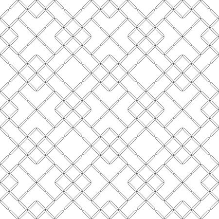 Seamless pattern. Modern stylish texture. Regularly repeating geometrical tiles with rhombuses, diamonds, flowers. Vector element of graphical design