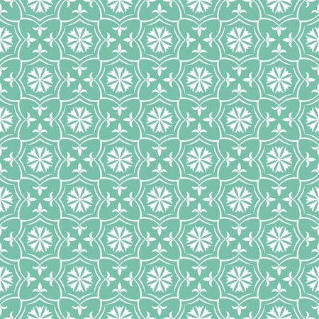 Seamless pattern. Elegant luxury texture. Regularly repeating stars, flowers. Vector element of graphical design