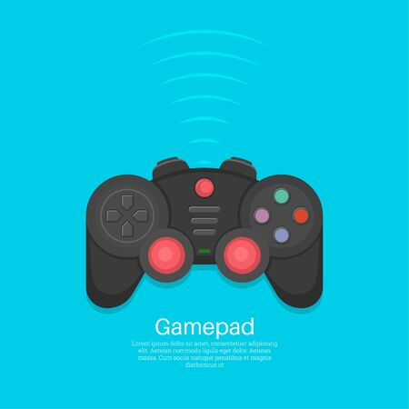 Gamepad Icon.Joystick.Device for video games.Wireless equipment, controller. An element for design. Vector illustration in flat style.