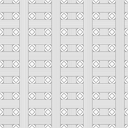 Seamless pattern. Modern geometrical texture. Regularly repeating intersecting thin lines, linear rhombuses, diamonds. Vector element of graphical design