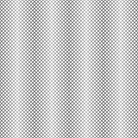 Vector seamless pattern. Abstract halftone linear background. Modern geometrical texture. Repeating vertical shapes with intersecting lines of the different thickness. Contemporary design