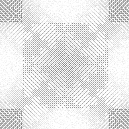Vector seamless pattern. Modern simple geometrical texture with small outline rhombuses, which form rectangle tile shapes. Abstract regularly repeating background. Illusztráció