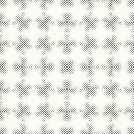 Seamless pattern. Modern stylish texture. Regularly repeating geometrical linear ornament with thin lines, rhombuses, corners, crosses. Vector element of graphical design