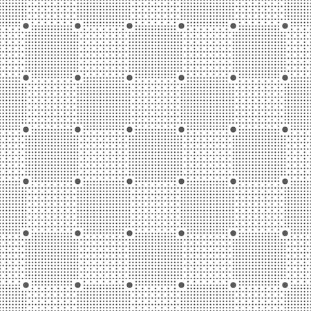 Vector seamless pattern. Infinitely repeating stylish modern texture consisting of small dots which form geometrcial checkered background with dotted squares, lattices. Illusztráció