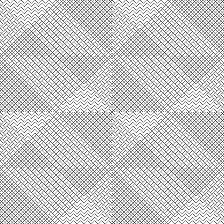 Vector seamless pattern. Modern stylish texture with intersecting thin zigzag lines which form regularly repeating original tiled linear grid. Abstract geometric background Illusztráció