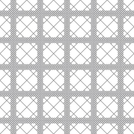 Vector seamless pattern. Trendy modern texture with constant repetition of rhombuses, diamonds. Regularly repeating tiles. Geometrical textured background. Contemporary design.
