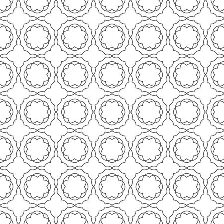 Seamless pattern. Modern simple texture. Regularly repeating geometrical linear ornament. Abstract textured background. Vector element of graphical design
