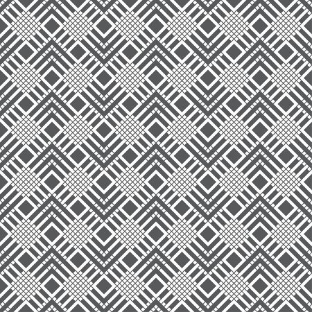 Seamless pattern. Infinitely repeating stylish elegant texture consisting of linear grid, rhombuses, corners. Abstract geometrical textured background. Vector element of graphical design