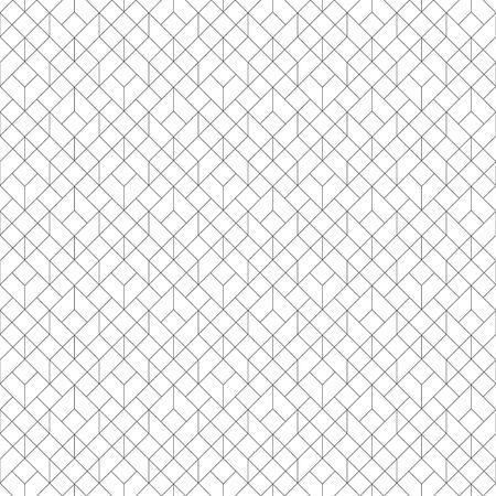 Seamless pattern. Geometrical linear texture. Repeating thin broken lines, polygons, hexagons, difficult polygonal shapes. Original geometrical puzzle. Backdrop. Web. Vector element of graphic design Illusztráció