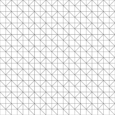 Seamless pattern. Modern stylish texture. Regularly repeating geometrical ornament with thin lines, rhombuses, triangles. Vector element of graphical design