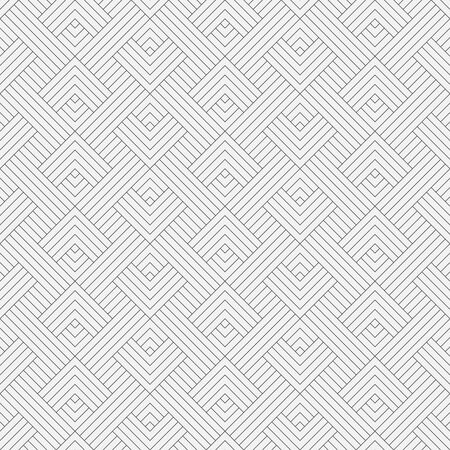 Seamless pattern. Modern stylish texture. Regularly repeating geometrical ornament in the form of zigzag shapes with thin lines, rhombuses, corners. Vector element of graphical design