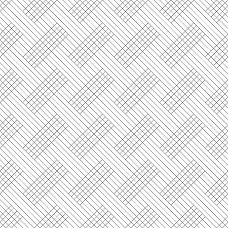 Seamless pattern. Modern stylish texture. Regularly repeating geometrical ornament with thin lines, rhombuses, rectangle shapes. Vector element of graphical design
