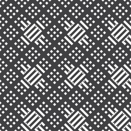 Seamless pattern. Repeating modern geometrical texture consisting of strips, rhombuses, triangles. Vector element of graphical design