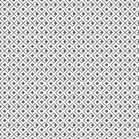 Art deco seamless pattern. Geometrical modern linear texture. Regularly repeating classical tiles with rhombuses, diamonds, corner thin lines. Vector element of graphical design