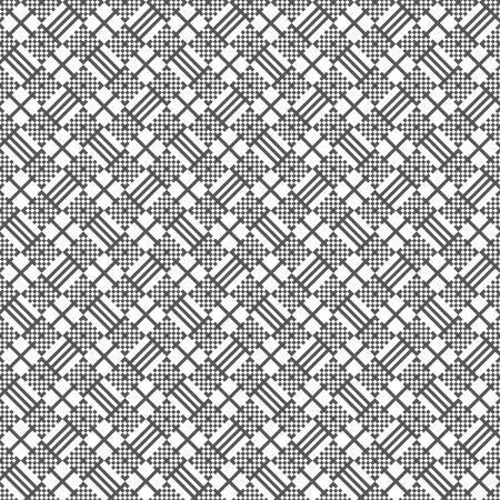 Seamless pattern.Modern stylish texture.Regularly repeating geometrical ornament with small rhombuses,crosses,checks,strips. Classical abstract textured background. Vector element of graphical design