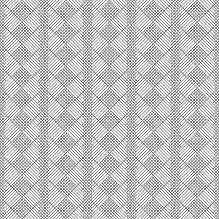 Vector seamless pattern. Geometrical modern texture. Regularly repeating classical tiles with rhombuses, diamonds, corner lines. Illusztráció