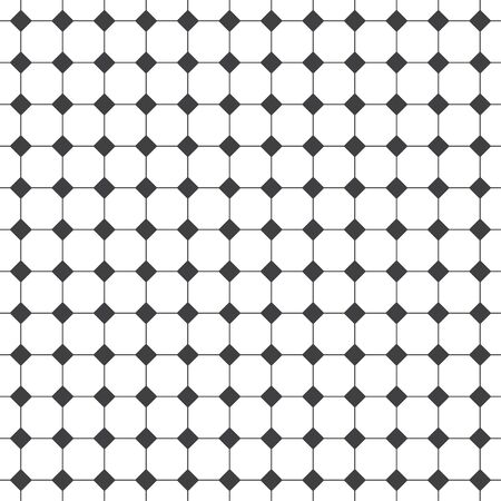 Seamless pattern. Modern stylish geometrical texture. Regularly repeating linear octagons, rhombuses, diamonds. Vector element of graphical design
