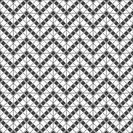 Seamless pattern. Modern stylish geometrical texture. Regularly repeating zigzag shapes with small rhombuses, diamonds, thin lines. Vector element of graphical design