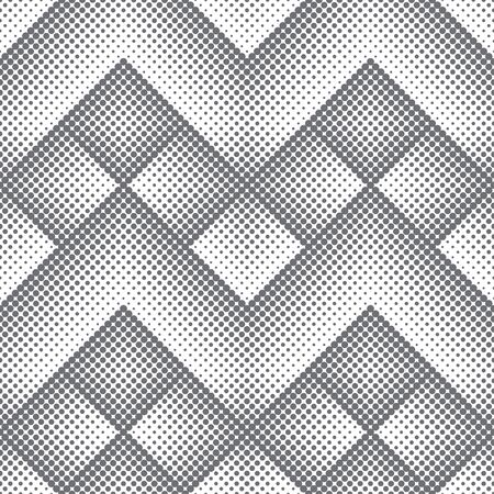 Seamless pattern.Abstract halftone background.Modern stylish texture. Repeating geometrical diamond tiles with dots,rhombuses of the different size. Gradation from bigger to the smaller.zigzag wave element