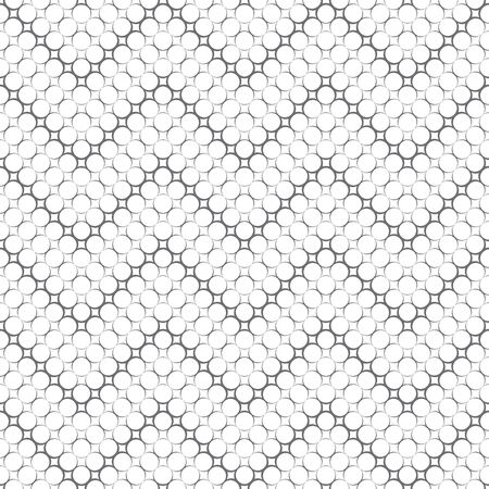 Seamless pattern. Modern stylish texture. Infinitely repeating geometrical texture. Traditional zigzag tiles with outline circles, dots. Vector element of graphical design