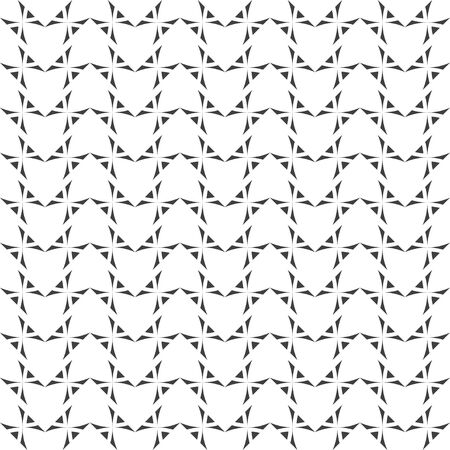 Seamless pattern. Modern stylish geometrical texture. Regularly repeating zigzag shapes with triangles, crosses. Vector element of graphical design Illusztráció