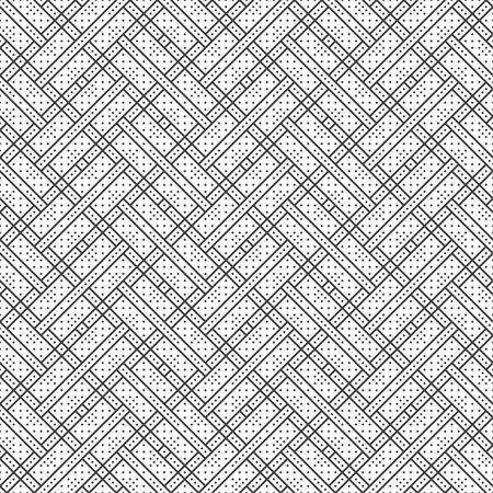 Seamless pattern. Modern stylish texture. Regularly repeating geometrical ornament with small rhombuses and crossed strips. Vector element of graphical design