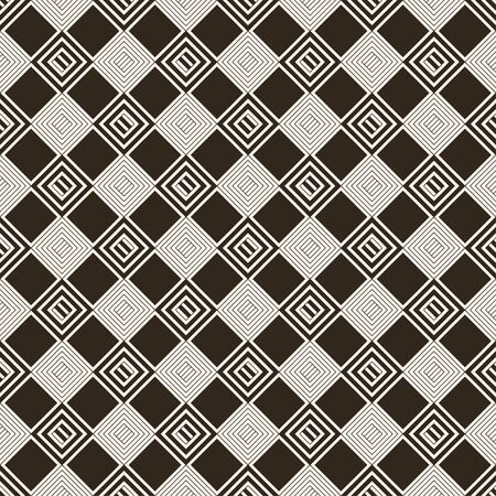 Vector seamless pattern. Classical stylish texture with rhombuses and diamonds which form regularly repeating tiled checkered surface. Plaid geometric background