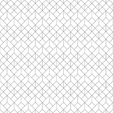 Seamless pattern. Modern stylish texture. Regularly repeating geometrical ornament with linear hexagons, rhombuses, diamonds, triangles. Thin line. Vector element of graphical design