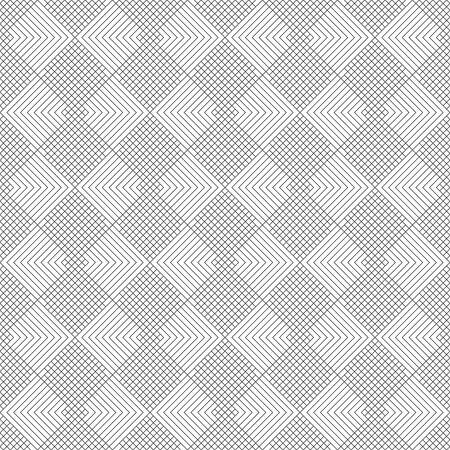 Seamless pattern. Modern elegant texture. Regularly repeating traditional geometrical tiles with rhombuses, diamonds, crosses, triangles. Thin line. Vector element of graphical design Illusztráció