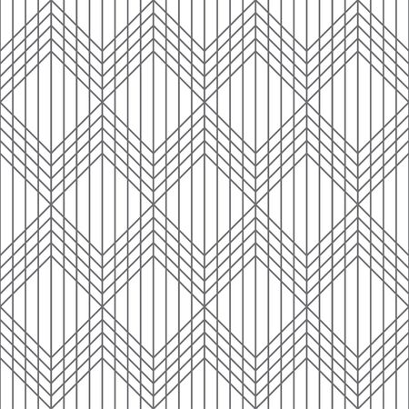 Seamless pattern. Modern elegant texture. Regularly repeating traditional geometrical tiles with rhombuses, diamonds, squares, triangles. Thin line. Vector element of graphical design  イラスト・ベクター素材