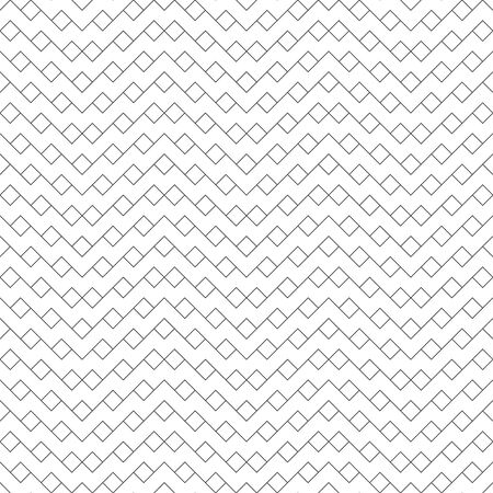 Seamless pattern. Modern stylish texture. Regularly repeating geometrical zigzag shapes with outline rhombuses. Trendy linear abstract background. Vector element of graphical design