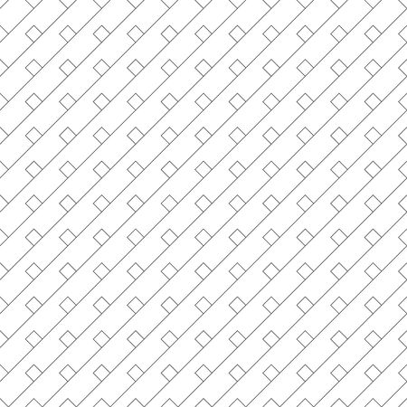 Vector seamless pattern. Infinitely repeating stylish elegant texture consisting of diagonal thin lines, rhombuses. Modern geometrical background.