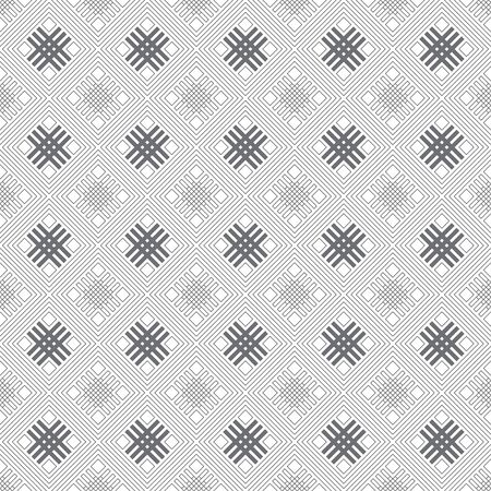 Vector seamless pattern. Modern stylish geometrical texture. Abstract regularly repeating background with constant repetition thin lines, outline rhombuses, diamonds, grids