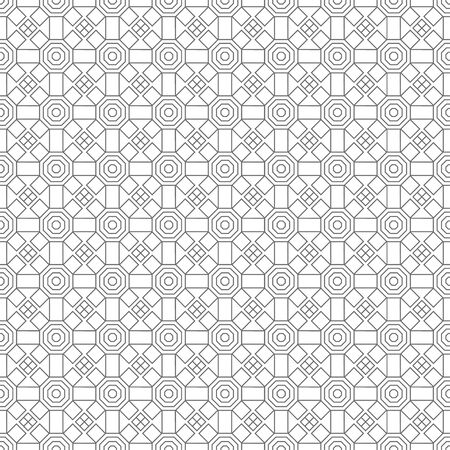 Seamless pattern. Infinitely repeating simple elegant texture consisting of polygons, squares, rhombuses. Vector element of graphical design