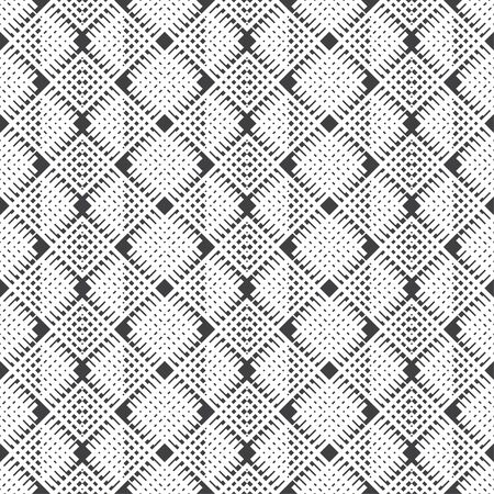 Vector seamless pattern. Abstract textured background. Modern stylish texture with regularly repeating rhombuses, thin dashed lines. Contemporary design Illustration